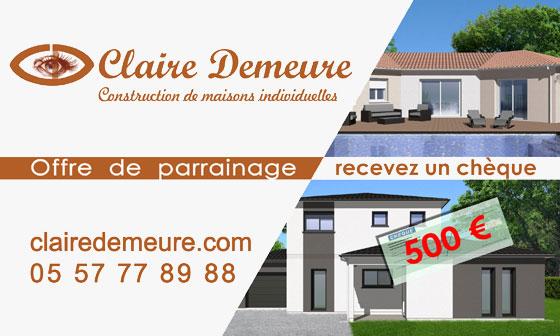 Contactez Claire Demeure, entreprise de construction de maison en Gironde