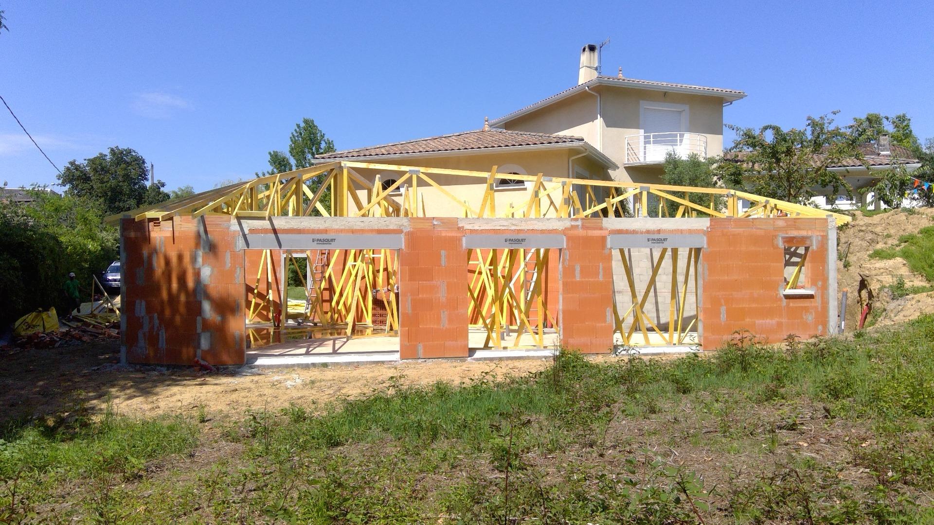Entreprise de construction d'extension de maison individuelle